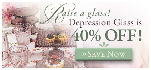 Depression Glass Sale!