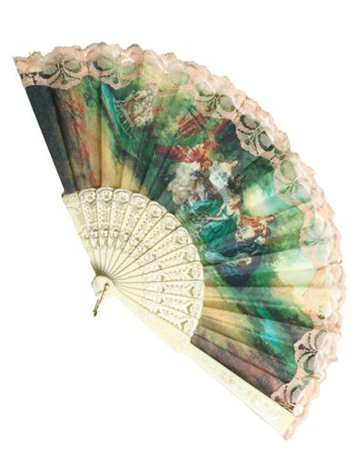 Vintage Style Parasols and Umbrellas The Language Of Fans Ladies - Ecru $19.95 AT vintagedancer.com