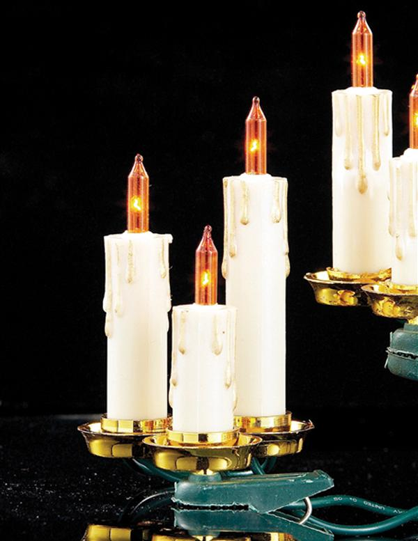 Old World Candle Garland | Christmas Tree Candles