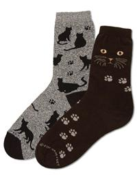 Two Pairs Of Cat Socks