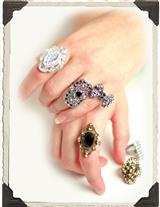ART DECO COSTUME RINGS