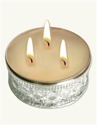 SOYBEAN BEAUTY CANDLE IN CUT GLASS POWDER BOX