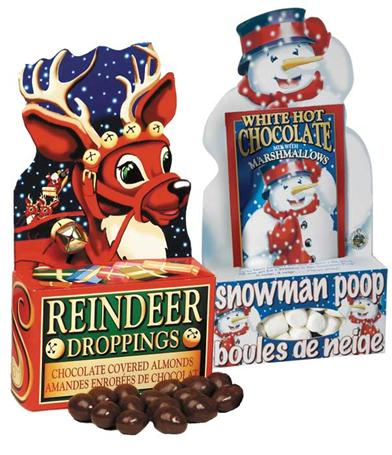 PAIR OF SNOWMAN POOP AND REINDEER DROPPINGS