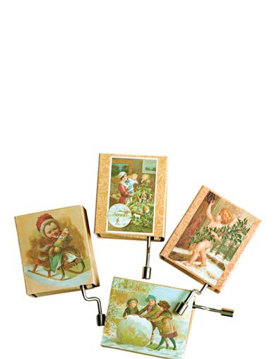 HOLIDAY HURDY GURDIES (SET OF 4)