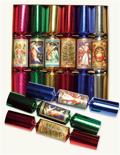 COLORFUL CHRISTMAS CRACKERS (SET OF 6)