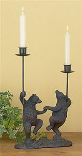 DANCING BEARS CANDLESTICKS