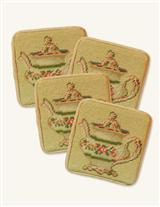 SET OF 4 NEEDLEPOINT COASTERS