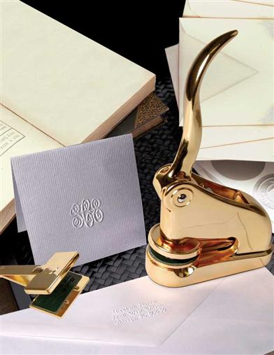BRASS EMBOSSER ADDRESS