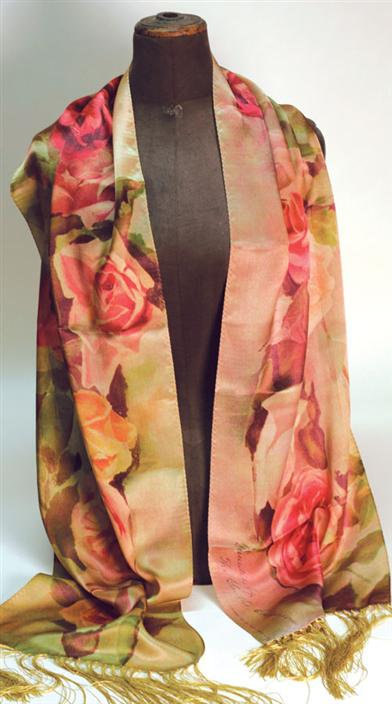 FADED ROSES SIXFOOT SILK SCARF