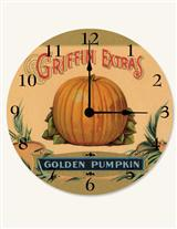 FRUIT CRATE PUMPKIN CLOCK