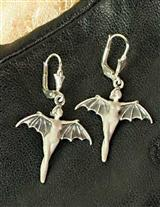 EUROPEAN SILVER VAMPIRA EARRINGS