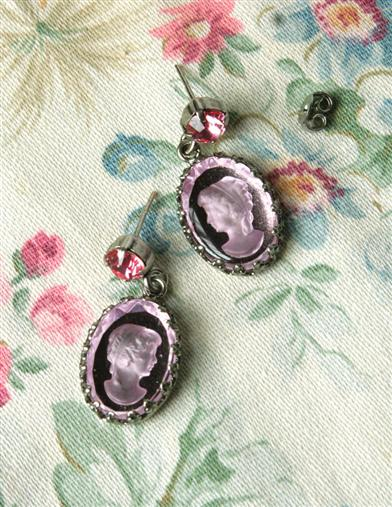 ROSE QUARTZ INTAGLIO EARRINGS