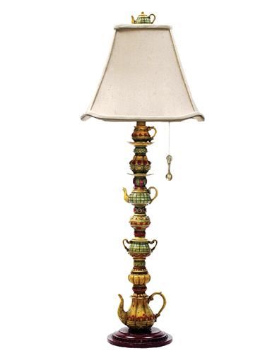 Stacked Teapots Kitchen Lamp