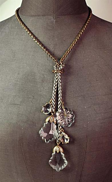 NOUVEAU VICTORIAN PRISM NECKLACE