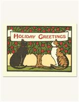TWO CHRISTMAS CATS HOLIDAY CARDS