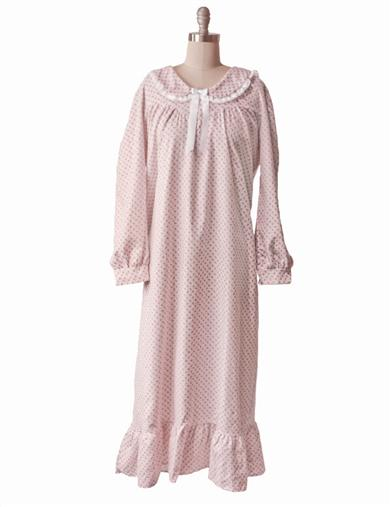 Rosebud Flannel Nightgown