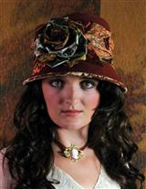 LOUISE GREEN AUTUMN ROMANCE HAT
