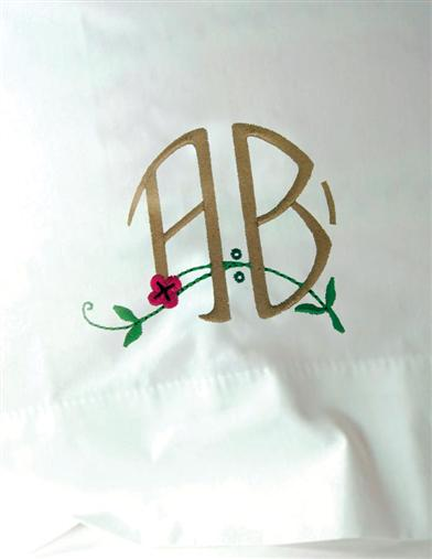 Arts & Crafts Monogram Pillowcase
