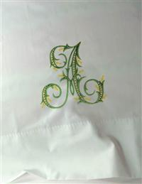 French Gothic Initial Pillowcase