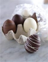 DOZEN DRIZZLED CHOCOLATE EGGS