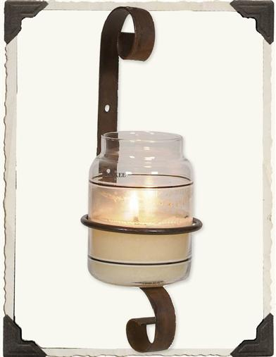 JAR CANDLE SCONCE BRACKET
