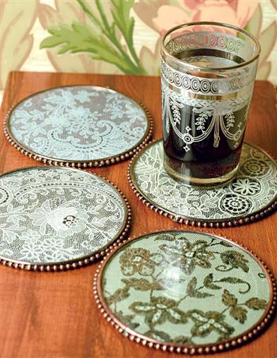 LACE COASTERS (SET OF 4)