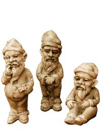 Bavarian Garden Gnomes (Set Of 3)