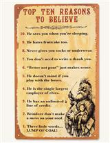 Top Ten Reasons To Believe Sign