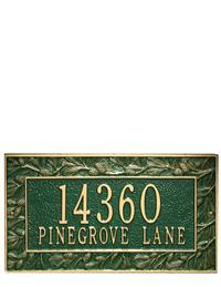 LODGE SWEET LODGE ADDRESS PLAQUE