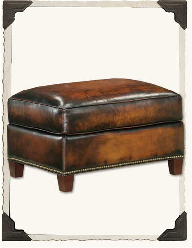 BUTTERY LEATHER OTTOMAN