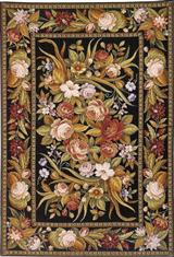 RUSTY ROSES RUG 4 X 6'