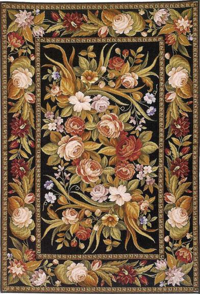 RUSTY ROSES RUG 8 X 10'