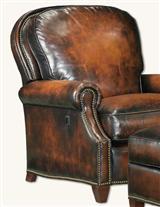 BUTTERFLY LEATHER CHAIR & OTTOMAN SET