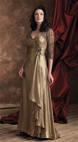 GILDED LAME GOWN