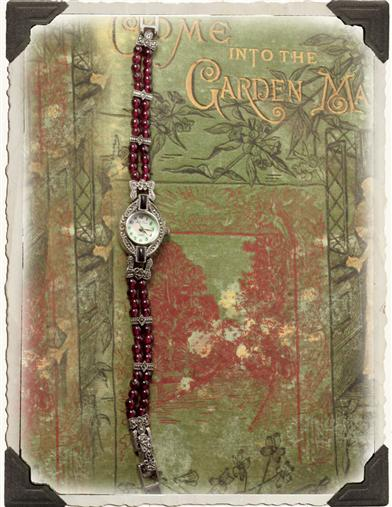 GARNET BEAD WATCH