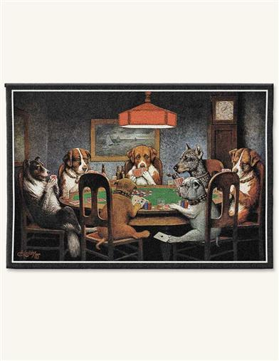 DOGS GAMBLING TAPESTRY