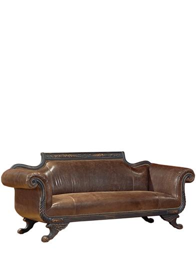 DUNCAN PHYFE LEATHER SOFA