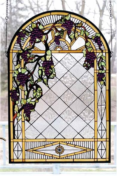 TUSCAN VINEYARD STAINED GLASS WINDOW