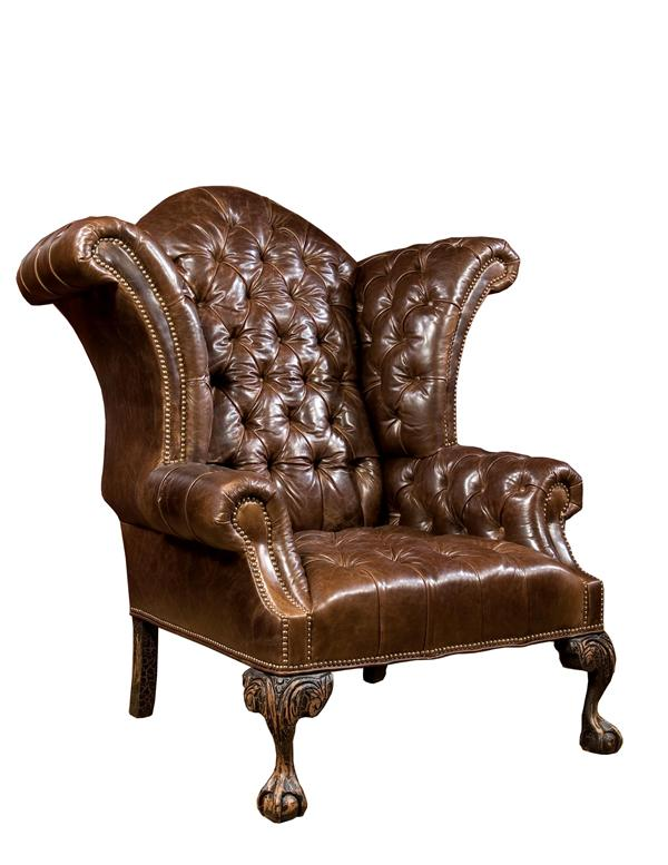 Alternate Image #0 & Classic Leather Wingback Chair | Victorian Brown Leather Armchair islam-shia.org