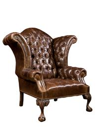 Classic Leather Wingback Chair ...