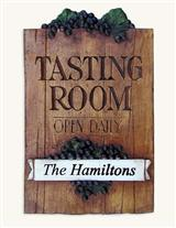 Custom Imprint Tasting Room Plaque