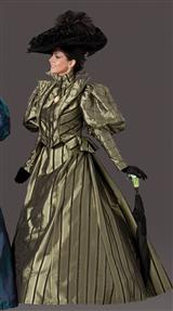 GIBSON GIRL COSTUME (OLIVE)