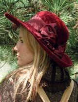 LOUISE GREEN BORDEAUX VELOUR HAT