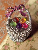 EASTER BASKET BROOCH
