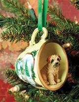 FAVORITE DOG BREED TEACUP ORNAMENT (CHRISTMAS)