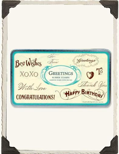 WELL WISHES RUBBER STAMPS