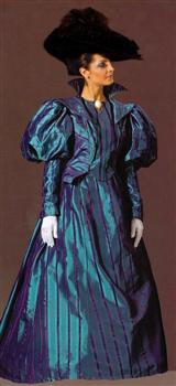 GIBSON GIRL COSTUME (BLUE)