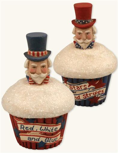PATRIOTIC CUPCAKE CANDY BOXES