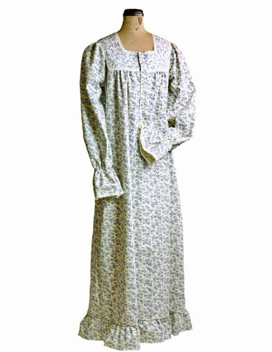 Victorian Nightgowns, Nightdress, Pajamas, Robes Bonnie Blue Nightie $64.95 AT vintagedancer.com