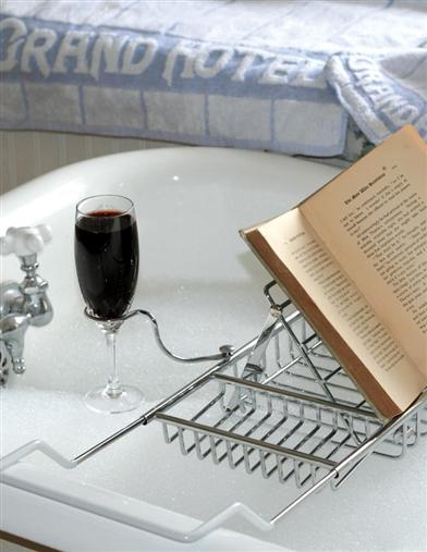 SIP & READ BY CANDLELIGHT BATHTUB CADDY
